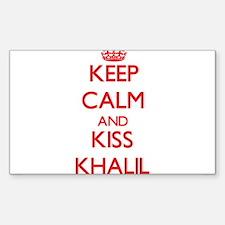 Keep Calm and Kiss Khalil Decal