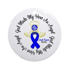 Anal Cancer Angel Ribbon Ornament (Round)