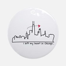 I Left My Heart In Chicago Ornament (Round)