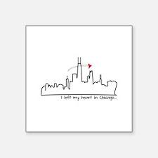 I Left My Heart In Chicago Sticker