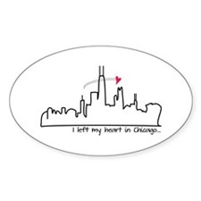 I Left My Heart In Chicago Decal