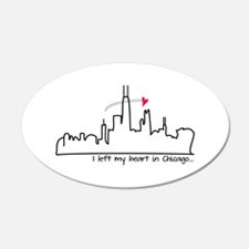 I Left My Heart In Chicago Wall Decal