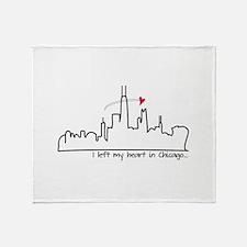 I Left My Heart In Chicago Throw Blanket