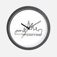 I Left My Heart In Chicago Wall Clock