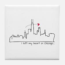 I Left My Heart In Chicago Tile Coaster