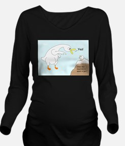 Talk to God Long Sleeve Maternity T-Shirt