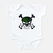Baillie Tartan Skull Infant Bodysuit