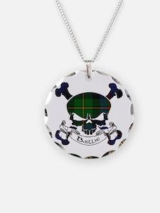Baillie Tartan Skull Necklace