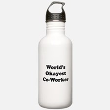 World's Okayest Worker Water Bottle