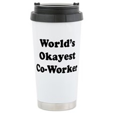 World's Okayest Worker Travel Mug
