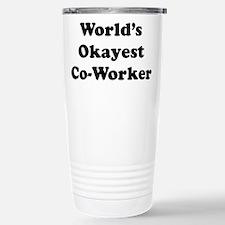 World's Okayest Worker Travel Mug
