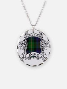 Baillie Tartan Shield Necklace