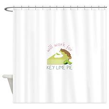 Work For Pie Shower Curtain