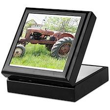 Antique Tractor Keepsake Box