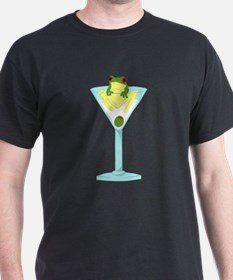 Frog & Olive in Martini Glass T-Shirt