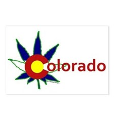 Pot Leaf Colorado Postcards (package Of 8)