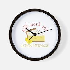 Lemon Meringue Wall Clock
