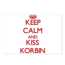 Keep Calm and Kiss Korbin Postcards (Package of 8)
