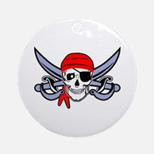 Pirate - Skull with Crossed Swords Ornament (Round