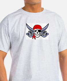 Pirate - Skull with Crossed Swords T-Shirt