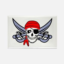 Pirate - Skull with Crossed Swords Rectangle Magne