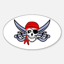 Pirate - Skull with Crossed Swords Decal