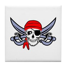 Pirate - Skull with Crossed Swords Tile Coaster
