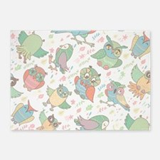 Cute Owls 5'x7'Area Rug