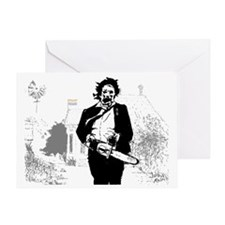 Unique Leatherface Greeting Card