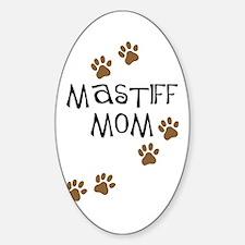Mastiff Mom Oval Decal