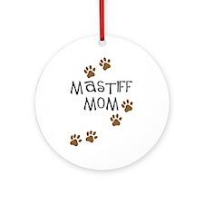 Mastiff Mom Ornament (Round)