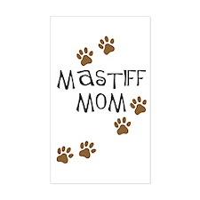 Mastiff Mom Rectangle Decal