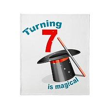 7th Birthday Magical Throw Blanket
