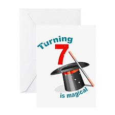 7th Birthday Magical Greeting Card