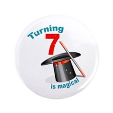 "7th Birthday Magical 3.5"" Button"
