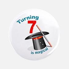 "7th Birthday Magical 3.5"" Button"
