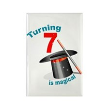 7th Birthday Magical Rectangle Magnet