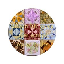 "Harvest Moons Quilts 3.5"" Button"