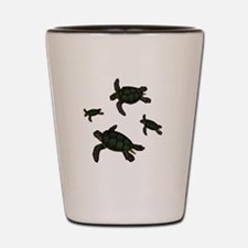 Turtle Family Shot Glass