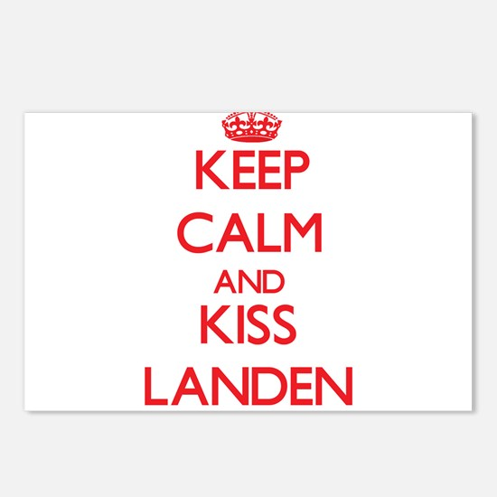 Keep Calm and Kiss Landen Postcards (Package of 8)