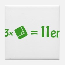 3 corner 1 penalty Tile Coaster
