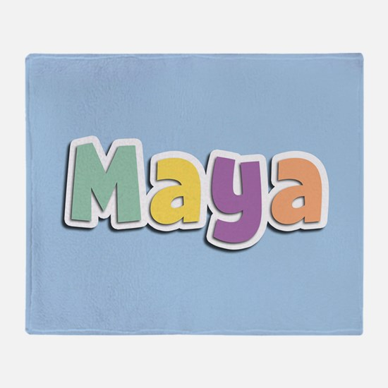 Maya Spring14 Throw Blanket