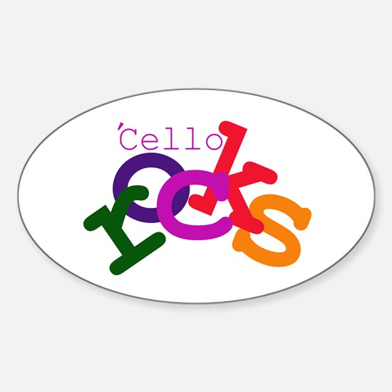 'Cello Rocks Oval Decal