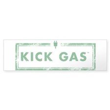 Clear Or White Kick Gas Bumper Bumper Sticker