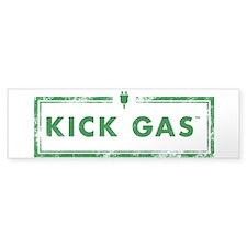 Clear Or White Kick Gas Bumper Car Sticker