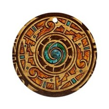 Harvest Moons Pueblo Ornament (Round)