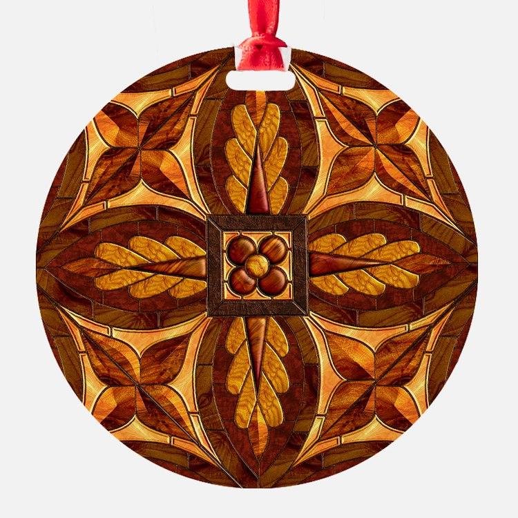 Harvest Moons Renaissance Marquetry Ornament