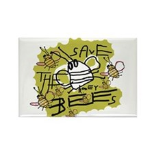 save the honey bees Rectangle Magnet