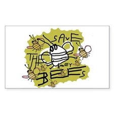 save the honey bees Rectangle Decal