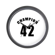 42 Champion Birthday Designs Wall Clock